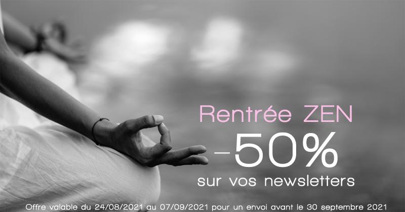 -50 sur votre newsletter