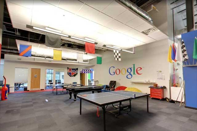 salle de jeux datacenter google